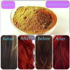 Henna Hair dye for Deep Red Hair   The Henna Guys