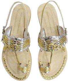 ShopStyle: Sigerson Morrison Indian Sandal In Gold & Silver