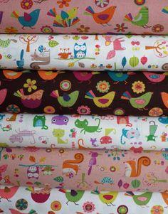 Westex, Print, White in FAT QUARTERS 6 Total - fabricwork
