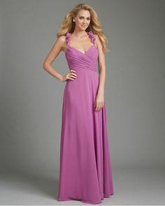 b79472b33e Ruffled Straps Chiffon Gown Long Allure Bridesmaid Dress 1364Outlet Allure  Bridesmaid Dresses