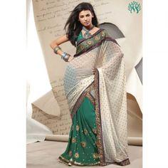 Trendy Handwork Crush Saree