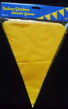 12FT Long Flag Garland Pennant Bunting Garden Party Fete & Pub Decoration Yellow
