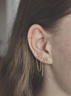 Moonlight ear studs