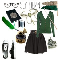 """Slytherin :)"" by olivianicole17 on Polyvore"