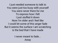 Staind -Fade lyrics