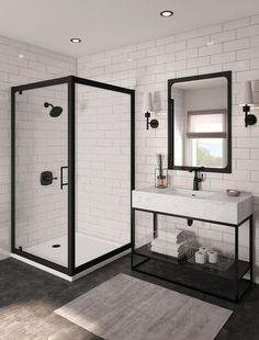 Beautiful master bathroom decor a few ideas. Modern Farmhouse, Rustic Modern, Classic, light and airy bathroom design a few ideas. Bathroom makeover suggestions and master bathroom renovation ideas. Modern Bathroom Faucets, Bathroom Renos, Bathroom Layout, Modern Bathroom Design, Bathroom Interior Design, Bathroom Renovations, Minimal Bathroom, Industrial Bathroom Design, Marble Bathrooms