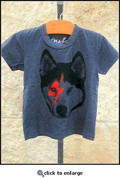 """""""Rock Wolf"""" Grey Kid's Tee"""