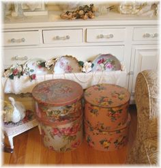 Vintage Hatboxes, Sewing Box