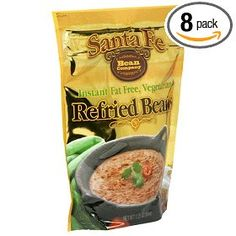 Santa Fe Bean Co., Instant Fat Free Vegetarian Refried Beans, 7.25-Ounce Pack (Pack of 8) $16.40