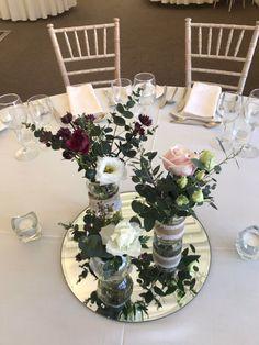 Jam Jar Wedding Reception Table Centrepiece