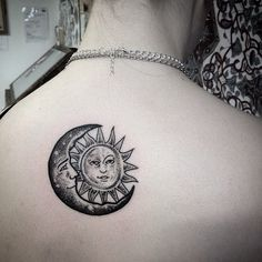 The moon and sun
