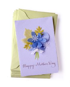 Fabric-Punched Mother's Day Card