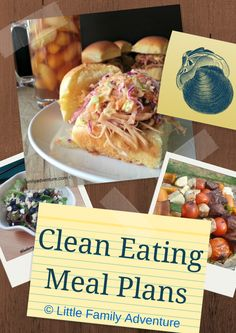 Clean eating meal plans - Weeks worth of healthy meals ideas and recipes.