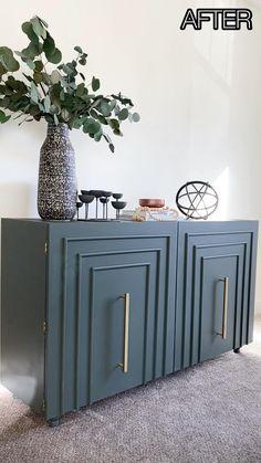 Ikea Furniture Makeover, Ikea Makeover, Diy Furniture Renovation, Ikea Furniture Hacks, Diy Home Furniture, Repurposed Furniture, Furniture Design, Paint Ikea Furniture, Bookshelf Makeover Diy