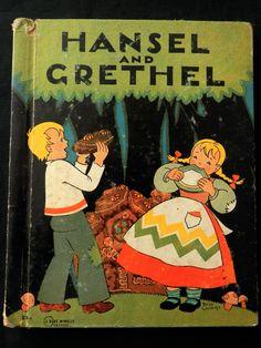 ''HANSEL and GRETHEL'', ill. BESS LIVINGS ~ Rand McNally (1938) | eBay