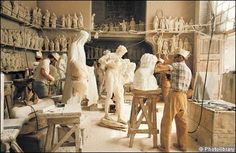Italian shop, Studio Sem, that produces marble statues for many of the world's leading artists in the Financial Times.