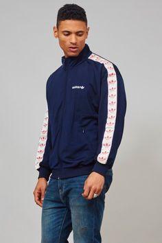 Vintage 1980's classic navy blue sports Adidas jacket