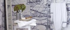 Lilac Marble: A modern bathroom design with an indoor plant. White Backround, Dark Blue Color, Modern Bathroom Design, Indoor Plants, Lilac, Marble, Style, Dark Blue Colour, Inside Plants