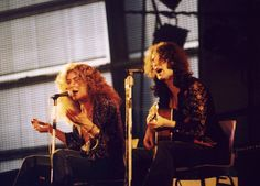 Robert Plant and Jimmy Page, Led Zeppelin- Pagey has a great singing voice just listen to 'She Just Satisfies'
