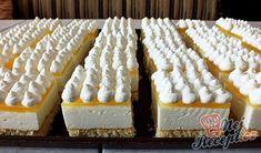 Citónové želé řezy | NejRecept.cz Hungarian Desserts, Hungarian Recipes, Torte Cake, Cake Bars, Baking Recipes, Cookie Recipes, Czech Recipes, Cold Desserts, Sweet And Salty