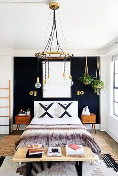 20 Rooms That Prove Black Furniture Is Totally Glam via Brit + Co