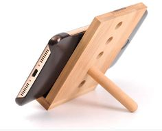 Wooden Universal Smart Phone Stand Mount Desk Holder