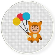 FREE for March 30 2015 Only - Fox Boy Cross Stitch Pattern