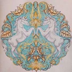 #johannabasford #johannabasfordenchantedforest #fabercastellpolychromos #adultcoloring #adultcoloringbook #coloringforadults