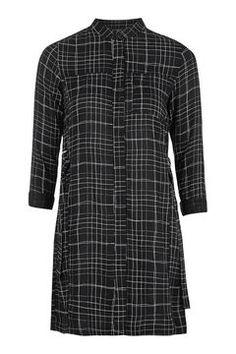 Grid Check Shirt Dress