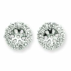 14k WG Diamond Earring Jackets RedBoxJewels.com. $1294.95