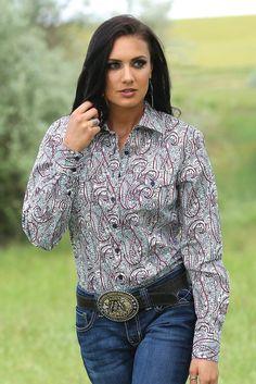0119a6f3 Cruel Girl Women's Paisley Long Sleeve Arena Shirt – Keffeler Kreations |  HilltopBoutique.com Cowgirl