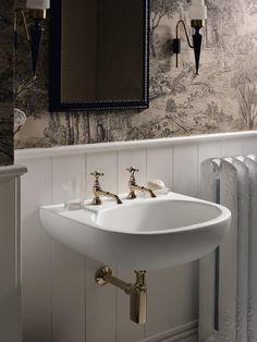 Design Handwaschbecken Badezimmer Retro Messing Optik Schick #badezimmer  #bathroom #ideas | Badezimmer Gestaltungsideen | Pinterest | Badezimmer
