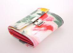 Beautiful leather wallet with flowerprint