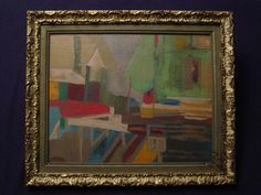 MID CENTURY MODERNISM CUBISM ABSTRACT VINTAGE OIL PAINTING LISTED ?  #Modernism