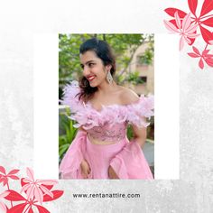 """""""Fashion needs to make one happy. It is a luxury and should enhance one's quality of life."""" —Tom Ford  Rent this stylish pink colour designer lehenga for your next event at www.rentanattire.com or visit our store located in Warje, Pune. Contact us on 7722009477 for appointment.  #rentanattire #sustainablefashion #bridesmaids #rentalfashion #rentalrevolution #makeinindia #fashiononrent #whybuywhenyoucanrent #friendship #weddingcollection #trend #designerlehenga #onlinestore #outfitoftheday…"""