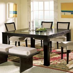 Steve Silver Movado Dining Table - Do you love versatility and retro style? Then our Movado Dining Table will fit your sense of style and your home decor. Its contemporary square d. Modern Dining Room Tables, Pedestal Dining Table, Square Dining Tables, Dining Table In Kitchen, Dining Room Sets, Dining Room Chairs, Pub Tables, Coffee Tables, Home Design