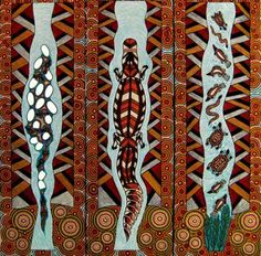 アボリジナルアート Aboriginal Art Animals, Aboriginal Painting, Aboriginal People, Australian Aboriginals, Indigenous Australian Art, Sand Painting, Maori Art, Painted Leaves, Native Art