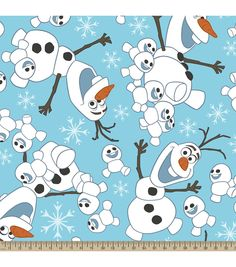Disney® Frozen Olaf Snowman Toss Fleece Fabric