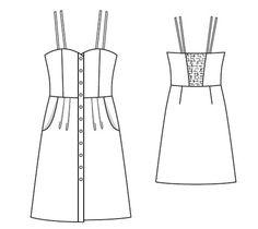 BurdaEasy Smocked Back Dress FS/2014 #2D