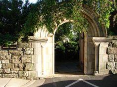 Bishops Garden Gate at the National Cathedral.  Washington, D.C.