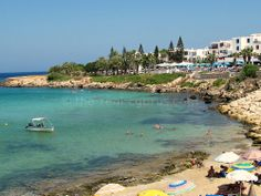 Fig Tree Bay Protoras, once this was just beach and fig trees, no hotels, see how it has grown today