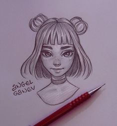 Tashi – Day by AngelGanev - Trinny - Day by AngelGanev on DeviantArt Art Drawings Sketches Simple, Girl Drawing Sketches, Cartoon Girl Drawing, Pencil Art Drawings, Amazing Drawings, Realistic Drawings, Cute Drawings, Sketch Art, Cartoon Art Styles
