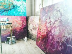 Interview with artist Emma Lindstrom: Ethereal Marbled Paintings Express the Inner Light Inside All of Us