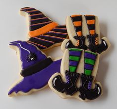 sugar cookie witch shoes and hats