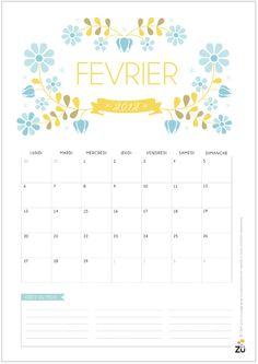 cute calendar design/format