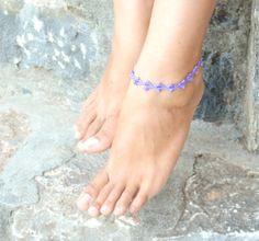 Ankle Bracelet Crochet  Jewelry  Beach Wedding  by ThalassaCrete, $10.00