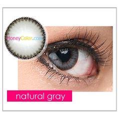 Hyper Natural Gray Color Contact Lens - Circle Contact Lens - Cosmetic Contact Lens - Colored Contacts - HoneyColor.com