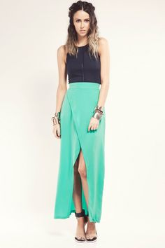 Finders Keepers - Burning Ground Skirt Green