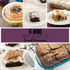 We now have 15 MORE ways to jazz up boxed brownies to make your dessert even better. These are great ideas to take your dessert to the next level.x