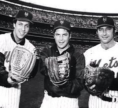 Jon Matlack, Tom Seaver and Jerry Koosman.  I cannot understand why Matlack isn't better honored by the Mets organization.